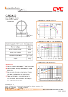 CR2450 3.0 v 600 mAh diam 24.50 x 5 mm
