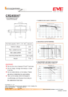 CR2450HT 3.0v 525 mAh diam 24.50 x 5 mm -40¯c+125¯c