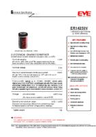 ER14250V 3.6 v 1.2 Ah 25.40 x 14.50 mm Atex