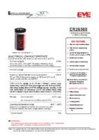 ER26500 3.6 v 8.50 Ah 50.00 x 26.20 mm Atex